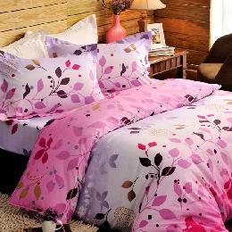 英國Abelia《花彩蝶宴》單人三件式鑽石絨被套床包組