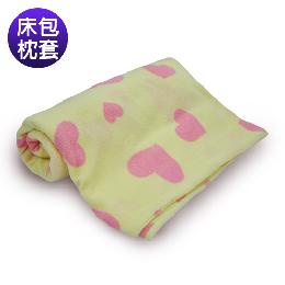 英國Abelia 單人防蹣抗菌珍珠絨床包枕套組-摩登甜心