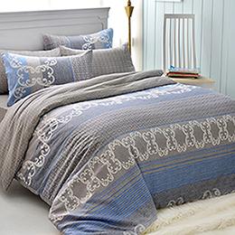 英國Abelia 加大純棉被套床包組-藍海假期