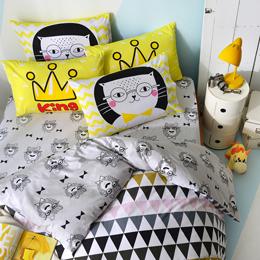 英國Abelia 雙人純棉被套床包組-摩登普普