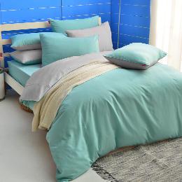 英國Abelia《漾彩混搭》雙人四件式天使絨被套床包組