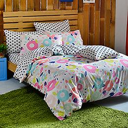 英國Abelia 雙人純棉被套床包組-漾彩點點