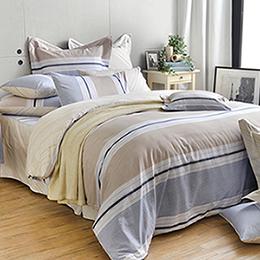 英國Abelia 《米蘭之約》加大純棉五件式被套床罩組