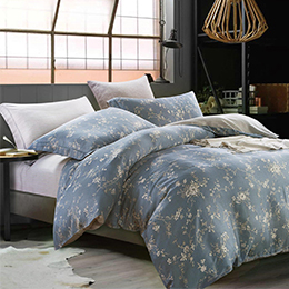 英國Abelia《鏡茉嫣然》加大防蹣抗菌吸濕排汗木漿兩用被床包組