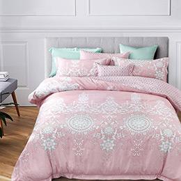 英國Abelia《甜美時光》加大吸濕排汗奧地利天絲兩用被床包組