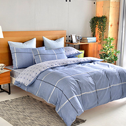 英國Abelia《雅致格調》加大純棉四件式被套床包組