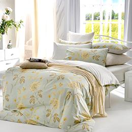 英國Abelia《伊香花甸》加大純棉四件式被套床包組