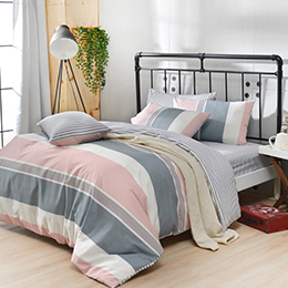 英國Abelia《旅途漫步》加大純棉四件式被套床包組