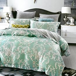 英國Abelia《克洛特》雙人防蹣抗菌吸濕排汗木漿兩用被床包組