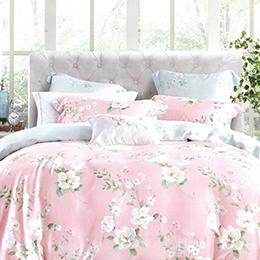 英國Abelia《亞夢娜》加大防蹣抗菌吸濕排汗木漿兩用被床包組