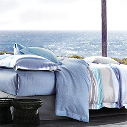 英國Abelia《悠藍時光》特大吸濕排汗奧地利天絲兩用被床包組