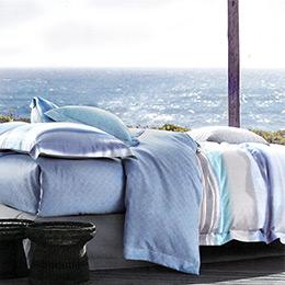 英國Abelia《悠藍時光》加大吸濕排汗奧地利天絲兩用被床包組