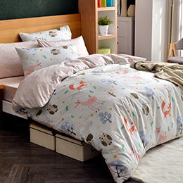 英國Abelia《森林嘉年華》加大純棉四件式被套床包組