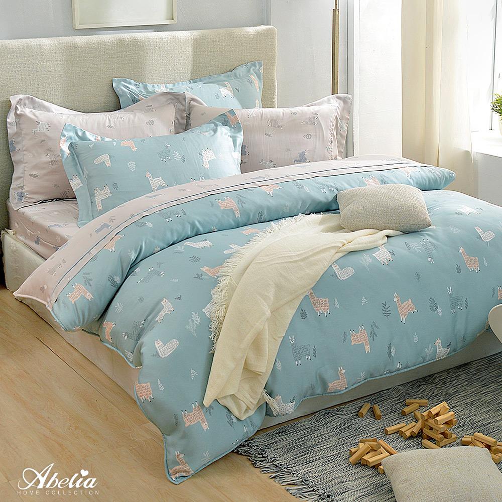 英國Abelia《草泥馬樂園》加大天絲木漿四件式兩用被床包組