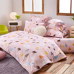 英國Abelia《風起雲湧的楓葉團》特大天使絨兩用被床包組