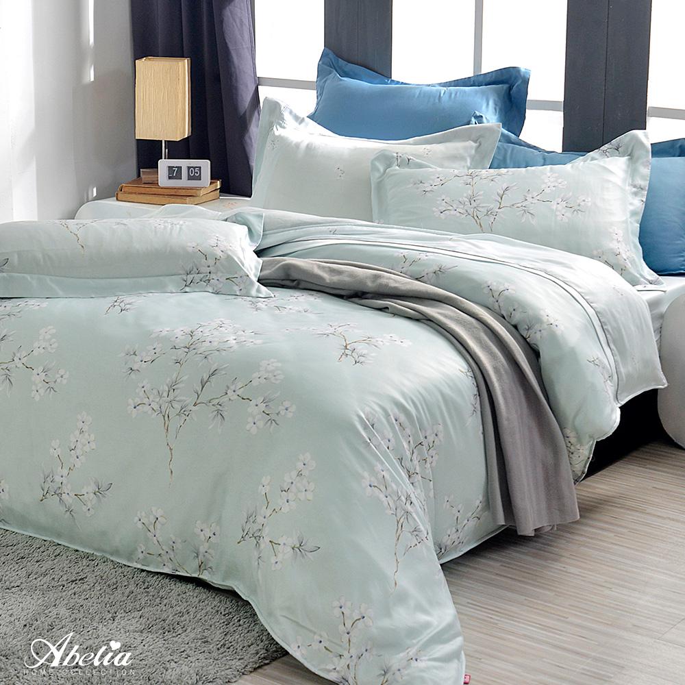 英國Abelia《青梅花開》特大天絲木漿兩用被床包組