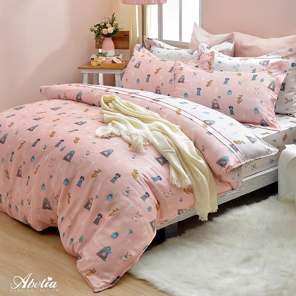 英國Abelia《森林寶貝》天絲木漿四件式兩用被床包組(單人包雙人被)
