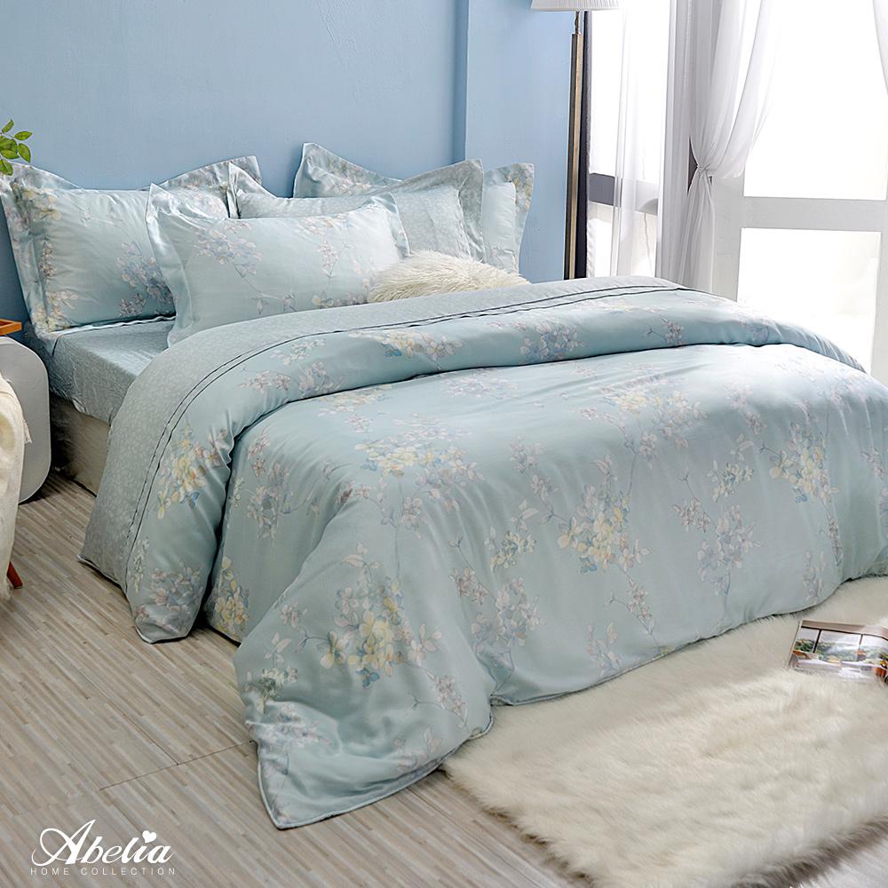 英國Abelia《水芙芳庭》特大天絲木漿兩用被床包組