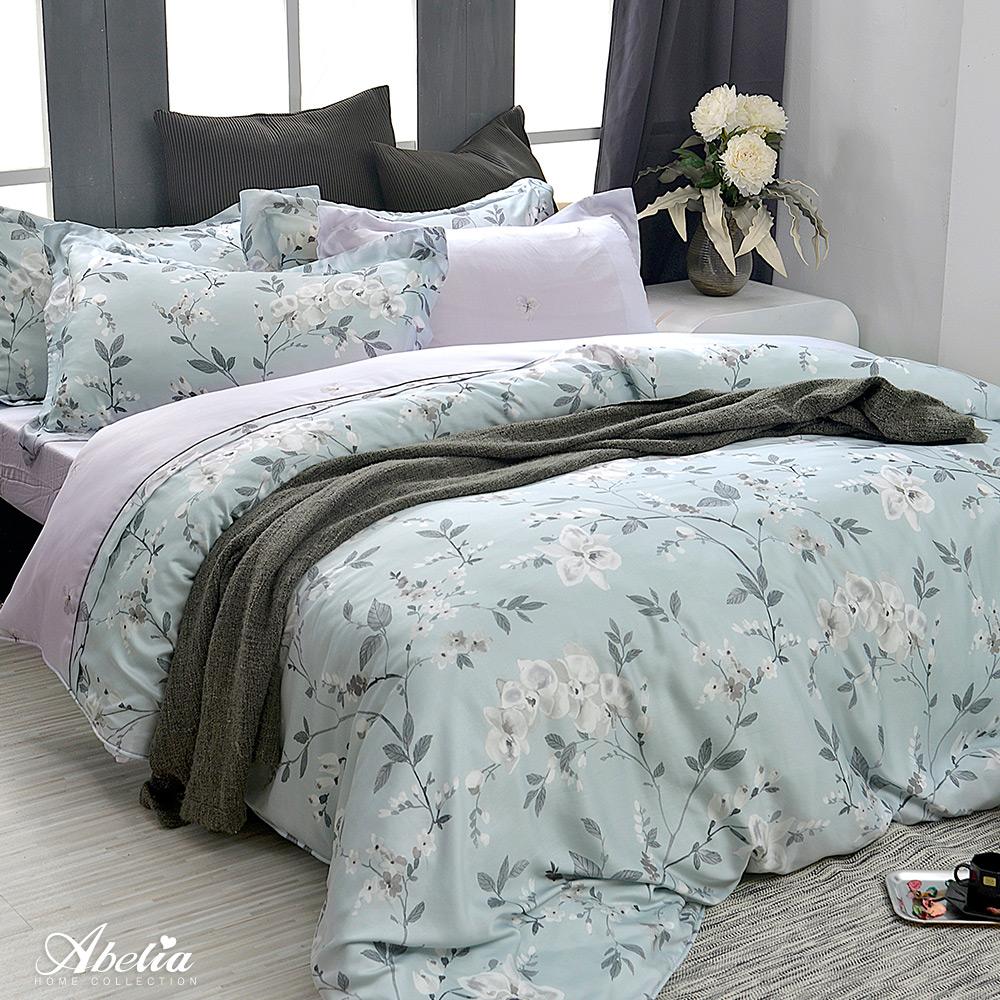 英國Abelia《春語紛紛》加大天絲木漿四件式兩用被床包組