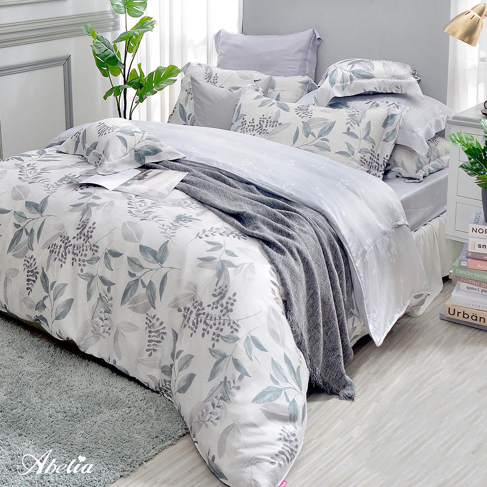 英國Abelia《綠之夢境》特大天絲木漿四件式兩用被床包組