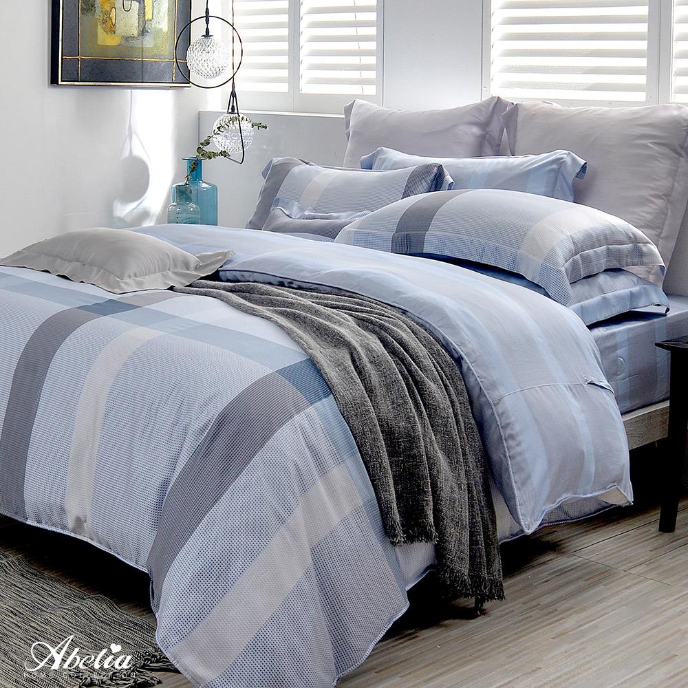 英國Abelia《知性時光》加大天絲木漿四件式兩用被床包組