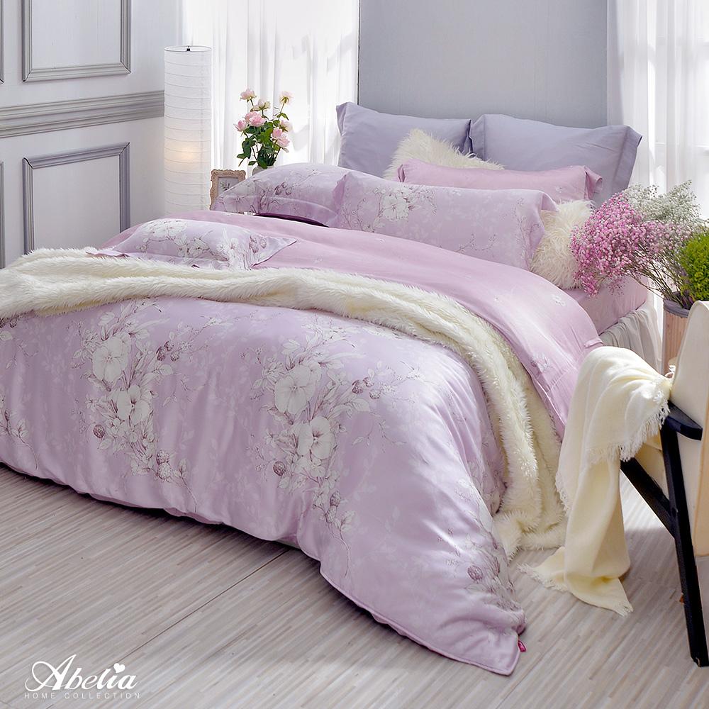 英國Abelia《粉紅夢境》加大天絲木漿四件式兩用被床包組