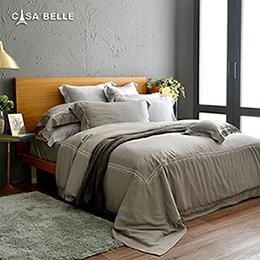 法國CASA BELLE《皇室香緹》特大天絲刺繡四件式防蹣抗菌吸濕排汗兩用被床包組
