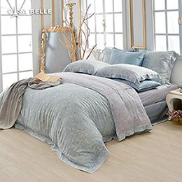 法國CASA BELLE《蕾洛伊》特大天絲刺繡防蹣抗菌吸濕排汗兩用被床包組