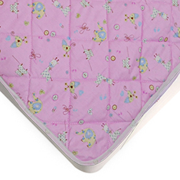 義大利Fancy Belle 單人純棉平面式保潔墊-動物寶貝