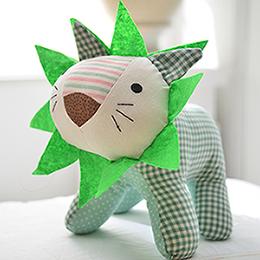 義大利Fancy Belle 俏皮萊恩-綠拼布玩偶-一入