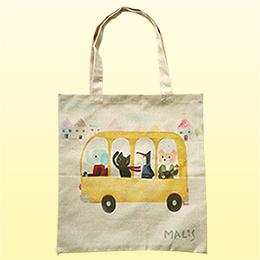 義大利Fancy Belle X Malis 麻織購物袋-一起郊遊趣