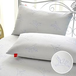 義大利Fancy Belle X Malis 防蹣抗菌透氣防水信封式保潔枕套-2入-小飛馬