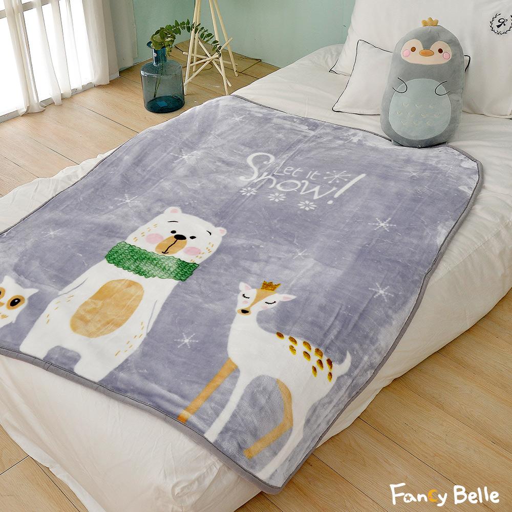 義大利Fancy Belle《動物家族》雙層雪芙絨兒童加厚毯110*140CM