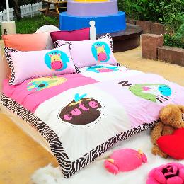 義大利Fancy Belle《動物莊園》雙人舖棉兩用被床包組