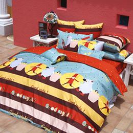 義大利Fancy Belle 雙人貢緞兩用被床包組-甜美夢境