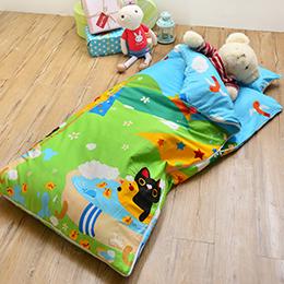 義大利Fancy Belle X Malis 純棉防蹣抗菌兒童睡袋-大自然的淋浴