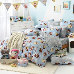 義大利Fancy Belle X DreamfulCat 單人純棉防蹣抗菌舖棉兩用被床包組-愛麗絲茶會