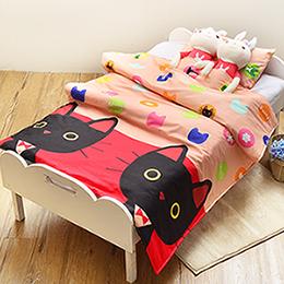 義大利Fancy Belle X Malis 兒童純棉防蹣抗菌兩用被枕頭2件組(3.5x4.5尺)-Mr.卜力