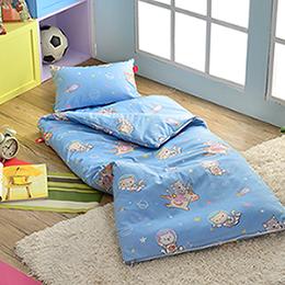 義大利Fancy Belle X DreamfulCat 純棉防蹣抗菌兒童睡袋-夢遊星空