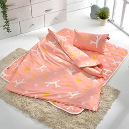 義大利Fancy Belle X Malis《小飛馬》兒童純棉防蹣抗菌三件式睡袋組