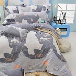 義大利Fancy Belle 雙人純棉防蹣抗菌吸濕排汗兩用被床包組-格林童話