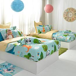 義大利Fancy Belle《好朋友的派對》特大防蹣抗菌吸濕排汗兩用被床包組