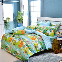 義大利Fancy Belle《童話世界》雙人純棉防蹣抗菌吸濕排汗兩用被床包組