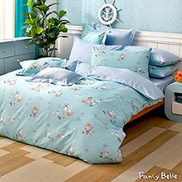 義大利Fancy Belle《花田樂園》雙人四件式防蹣抗菌吸濕排汗兩用被床包組