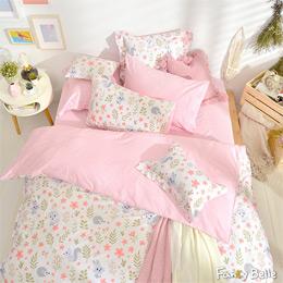 義大利Fancy Belle《花園蜜語》雙人純棉防蹣抗菌吸濕排汗兩用被床包組