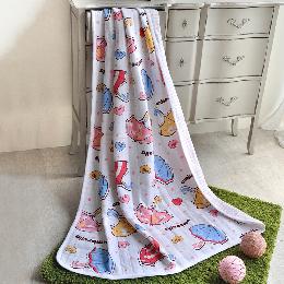 義大利Fancy Belle《甜蜜小雨傘》色坊針織兒童涼被(100*140CM)