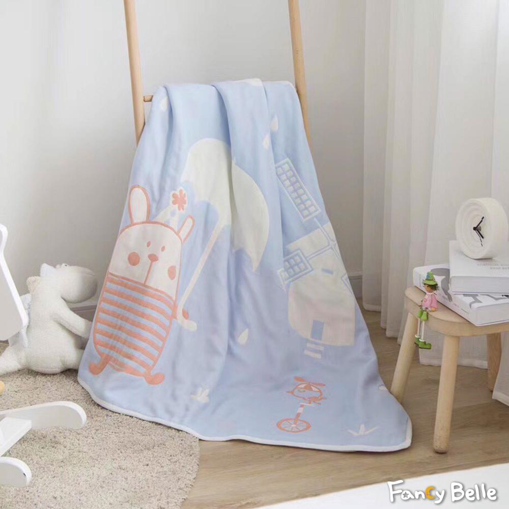 義大利Fancy Belle《可愛波波》六層紗兒童紗布被(110*110CM)