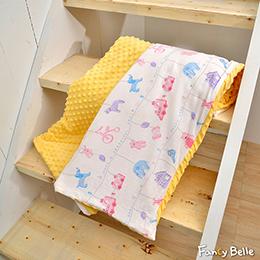 義大利Fancy Belle《晚安寶貝》雙層紗防蹣抗菌吸濕排汗 兒童兩用 荳荳毯(105*135CM)
