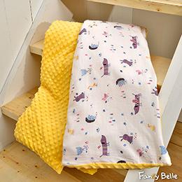 義大利Fancy Belle《森林派對》雙層紗防蹣抗菌吸濕排汗 兒童兩用 荳荳毯(105*135CM)
