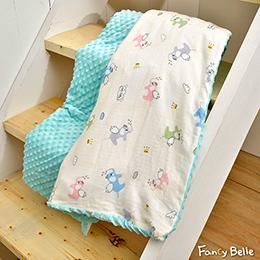 義大利Fancy Belle《乖乖飛象》雙層紗防蹣抗菌吸濕排汗 兒童兩用 荳荳毯(105*135CM)